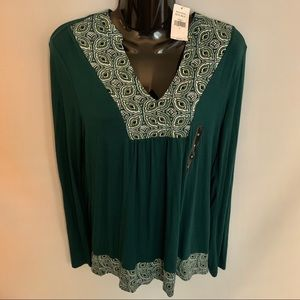 Banana Republic Tunic Top Sz M Green